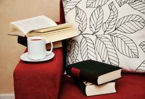 books and coffee nook intermission